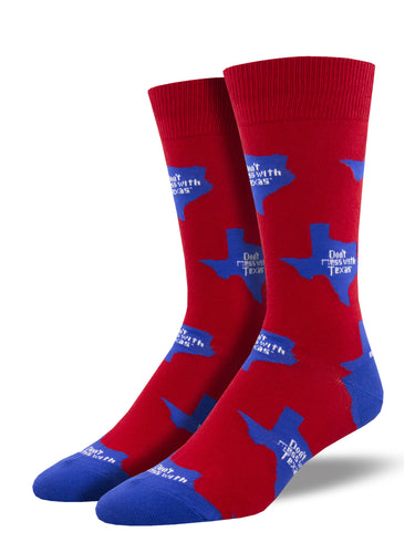 Men's Don't Mess With Texas (State) Socks