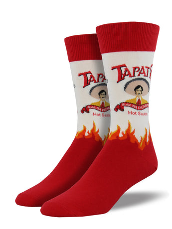 Men's Tapatio Hot Sauce Socks - White
