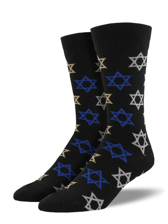 Men's Star Of David Socks - Black