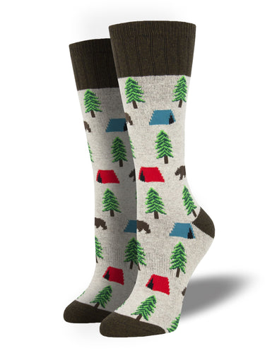 Camping Socks - Natural Heather