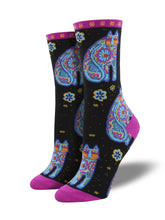 "Women's Laurel Burch ""Thanks Cat"" Socks"