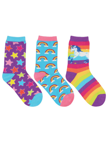 Rainbows and Stars 3-pack Socks for Kids - Shop Now | Socksmith