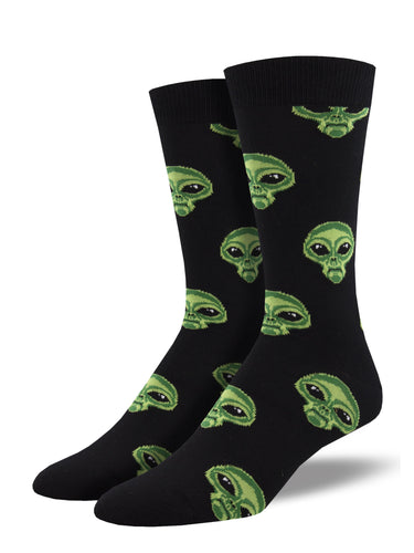 Bamboo Area 51 Alien Socks for Men - Shop Now | Socksmith