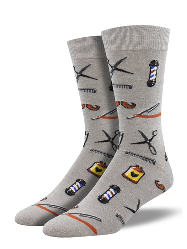 Bamboo Barber Shop Socks for Men - Shop Now | Socksmith