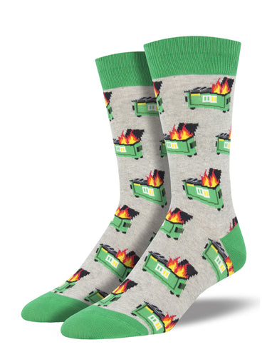 Dumpster Fire Socks for Men - Shop Now | Socksmith