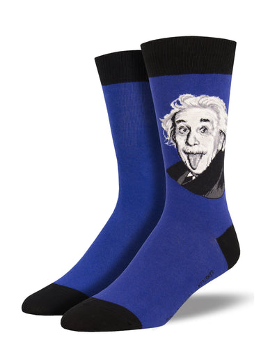 Get Smart - Einstein Portrait Socks for Men | Socksmith