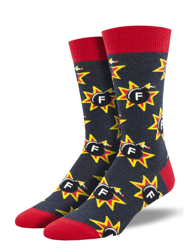 Men's dress socks - F Bomb