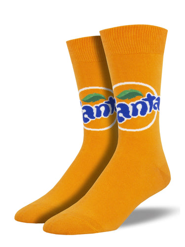 Orange Fanta Socks for Men - Shop Now | Socksmith