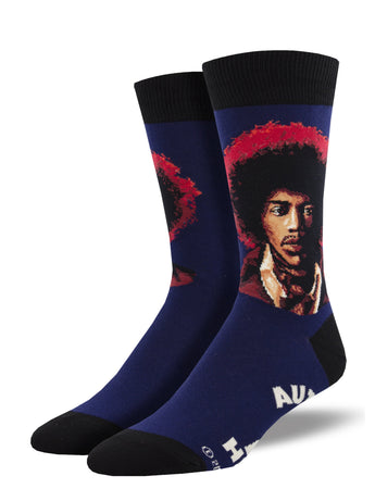 Jimi Hendrix Portrait Socks for Men - Shop Now | Socksmith