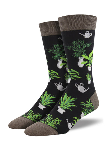 Men's Dress Socks - Plants