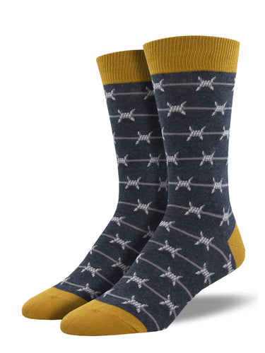 Men's Dress Socks - Barbed Wire