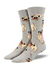 Pugs With Pizza Socks for Men - Shop Now | Socksmith