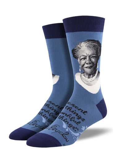 Maya Angelou Portrait Socks for Men - Shop Now | Socksmith