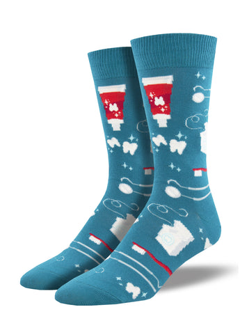 Men's Dress Socks - Pearly Whites Dental Socks