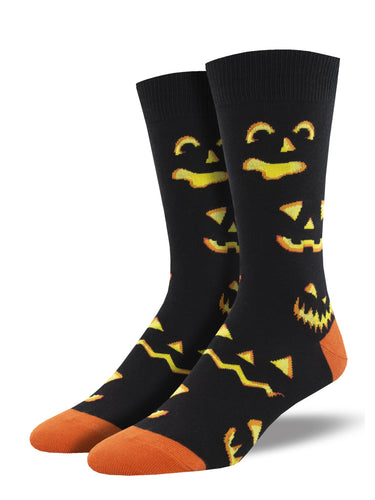 Men's Dress Socks - Halloween pumpkins