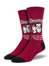 Retro Spoof Christmas Humor Socks for Men- Shop Now | Socksmith
