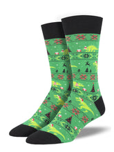 Dinosaur Christmas Socks for Men - Shop Now | Socksmith