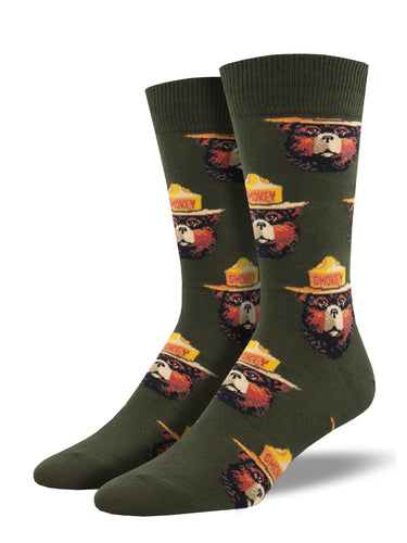 Smokey Bear Face Socks for Men - Shop Now | Socksmith