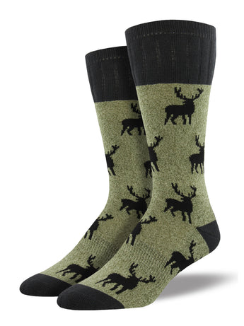 Stag Pattern Hiking Socks | Outlands by Socksmith