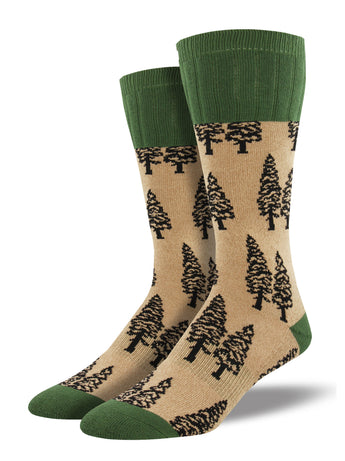 Trees Cushioned Outdoor Socks | Outlands by Socksmith