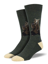 Recycled Cotton - Bear Socks Made In USA | Socksmith