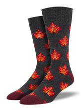 Recycled Cotton - Maple Leaf Socks Made In USA | Socksmith