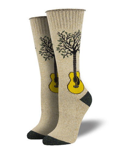 Recycled Cotton - Guitar Tree Socks Made In USA | Socksmith