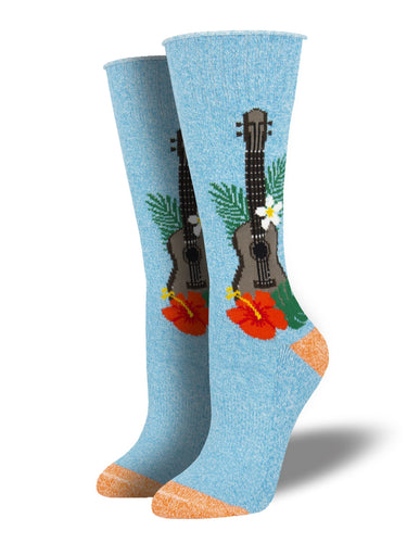 Recycled Cotton - Ukulele Socks Made In USA | Socksmith