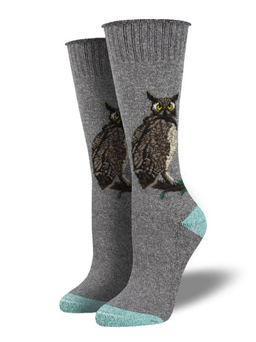 Recycled Cotton - Owl Socks Made In USA | Socksmith