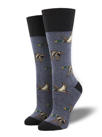 Recycled Wool - Flying Ducks Socks Made In USA | Socksmith