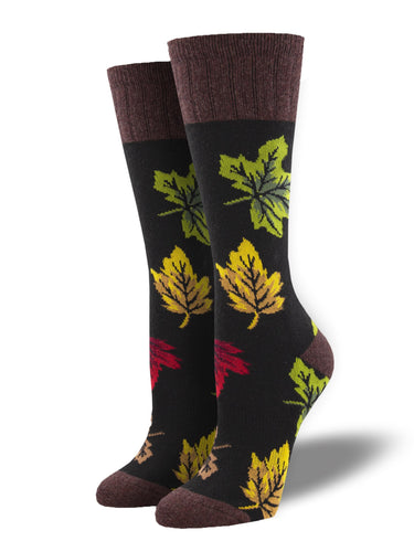 Recycled Wool - Autumn Leaves Socks Made In USA | Socksmith