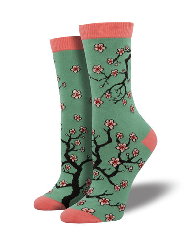 Cherry Blossom Bamboo Socks for Women - Shop Now | Socksmith