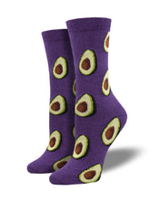 Bamboo Let's Guac About It Avocado Socks for Women - Shop Now | Socksmith
