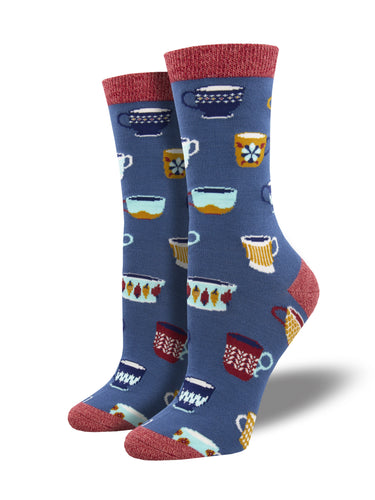 Bamboo Mug Decor Coffee Socks for Women - Shop Now | Socksmith