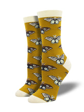 Bamboo Vintage Moths Socks for Women - Shop Now | Socksmith