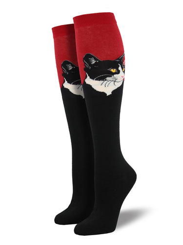 Cat Portrait Knee-High Socks for Women - Shop Now | Socksmith