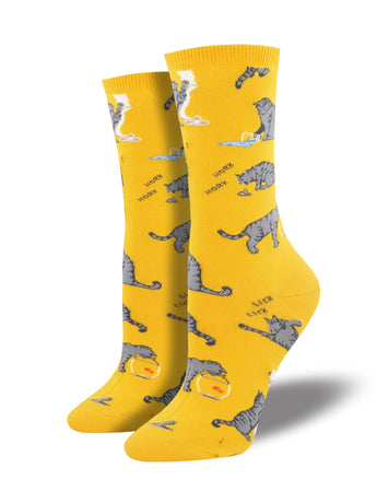 Cat Activities Socks for Women - Shop Now | Socksmith