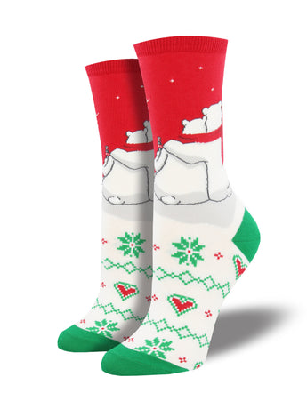 Coca-Cola Snuggling Polar Bears Socks for Women | Socksmith