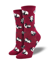 Women's Cute Panda Novelty Crew Socks | Socksmith