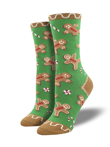Women's Gingerbread Man Christmas Socks | Socksmith