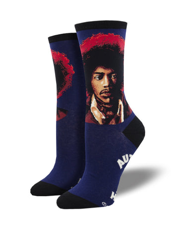 Jimi Hendrix Portrait Socks for Women - Shop Now | Socksmith
