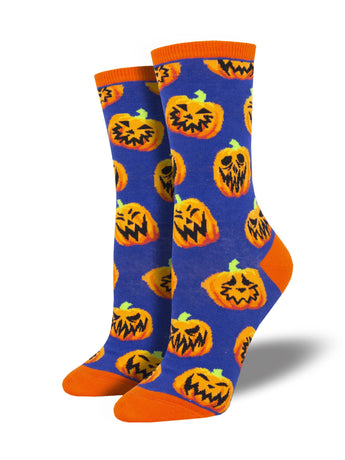 Jack o' Lantern Socks for Women - Shop Now | Socksmith