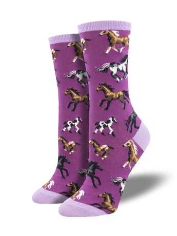 Women's Horse Novelty Crew Socks | Socksmith