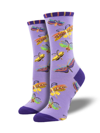 Laurel Burch Flutterbyes Art Socks for Women - Shop Now | Socksmith