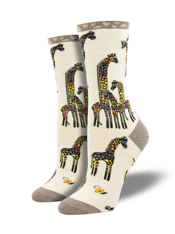 Laurel Burch Giraffe Art Socks for Women - Shop Now | Socksmith