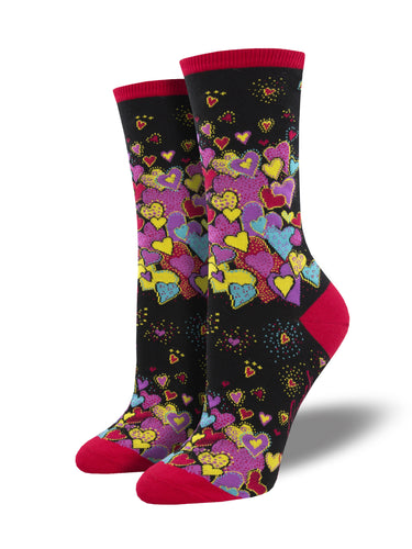 Women's Laurel Burch Heart Socks | Socksmith
