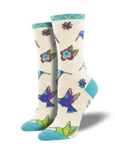 Laurel Burch Hummingbird Art Socks for Women - Shop Now | Socksmith