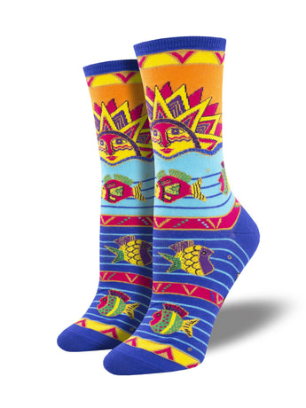 Laurel Burch Sun Fish Art Socks - Shop Now | Socksmith