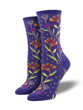 Laurel Burch Wildflowers Art Socks for Women - Shop Now | Socksmith