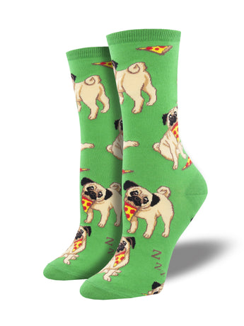Pizza and Pugs Socks for Women - Shop Now | Socksmith